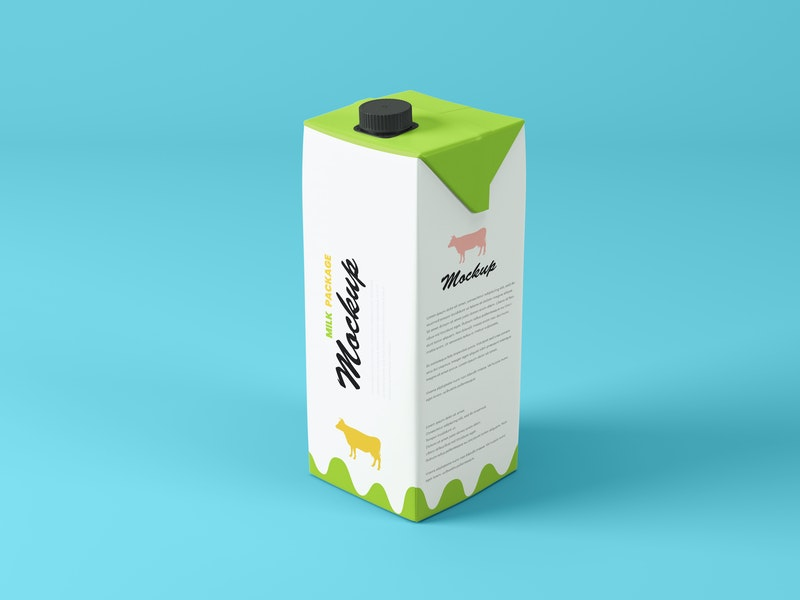 Tetra Pak 1L Package Mockup preview