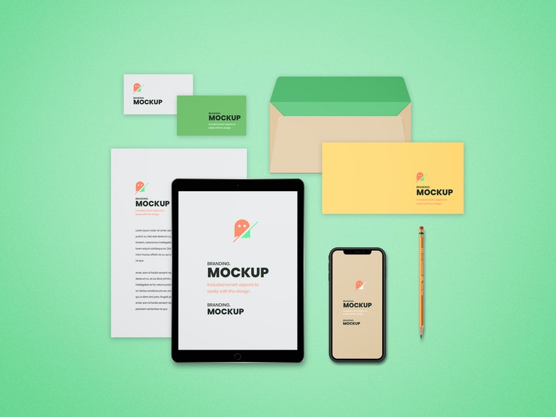 Top View Branding Mockup preview