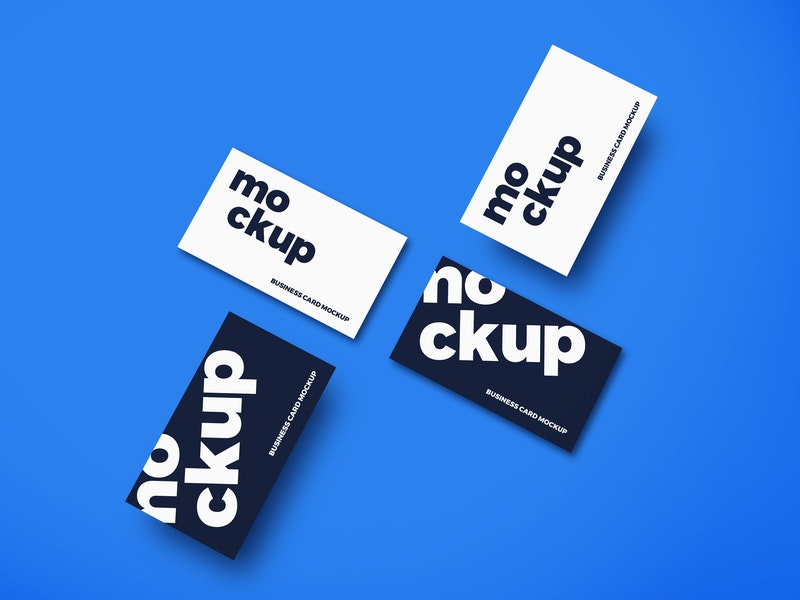 Top View Business Cards Mockup preview
