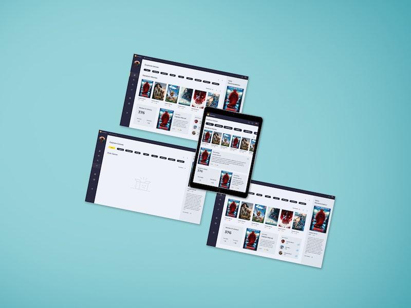Top Web Screen Mockup preview
