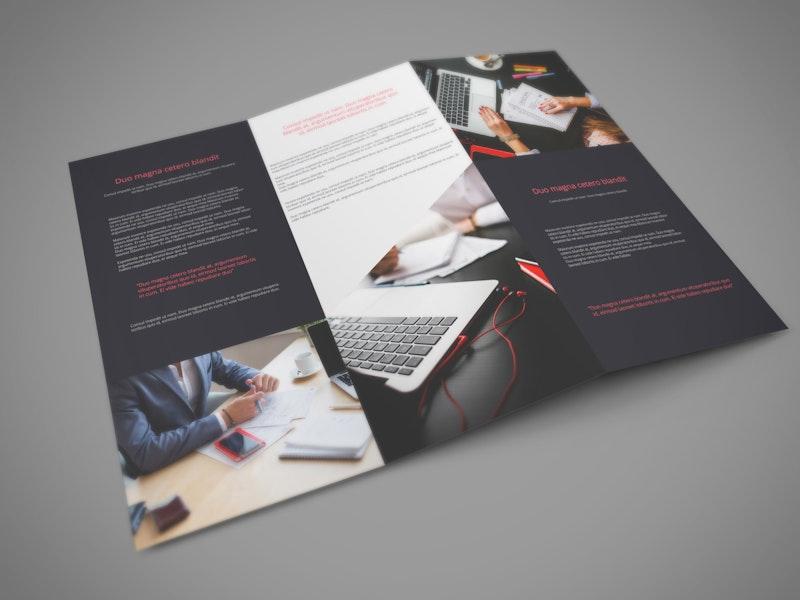Tri Fold PSD Mockup preview