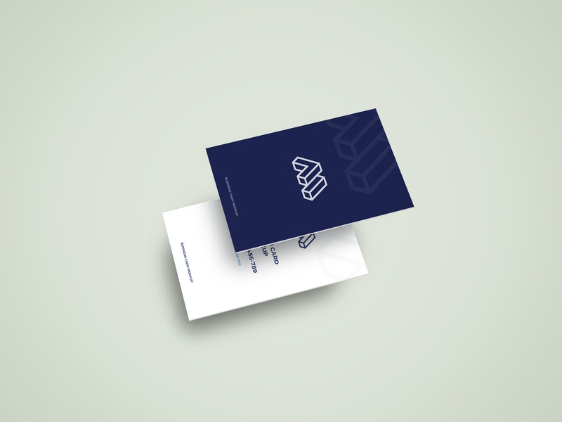 Two Business Cards Mockup preview