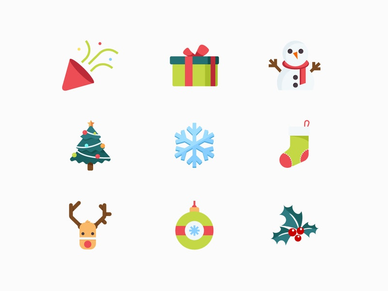Vector Christmas Icon Set preview
