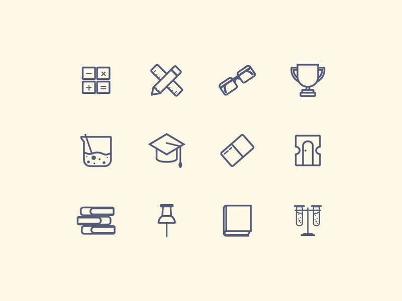 Vector Education Line Icons preview