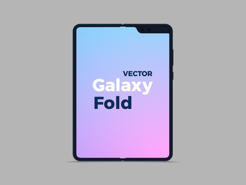 Vector Flat Samsung Galaxy Fold preview