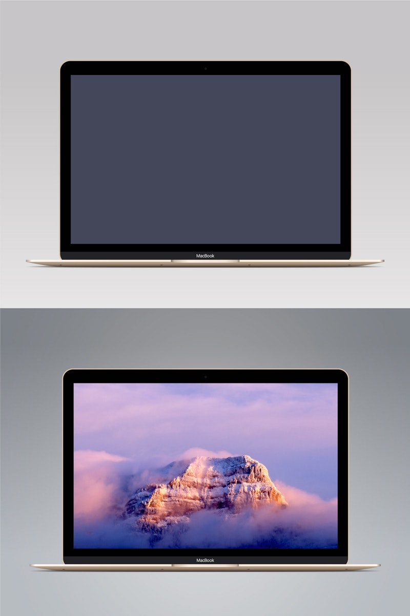 Vector MacBook Gold preview