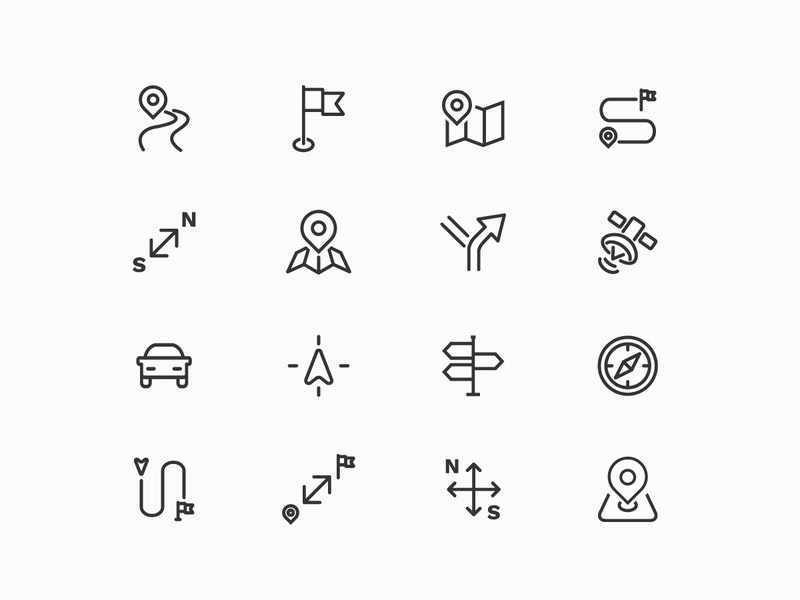 Vector Map Line Icons preview