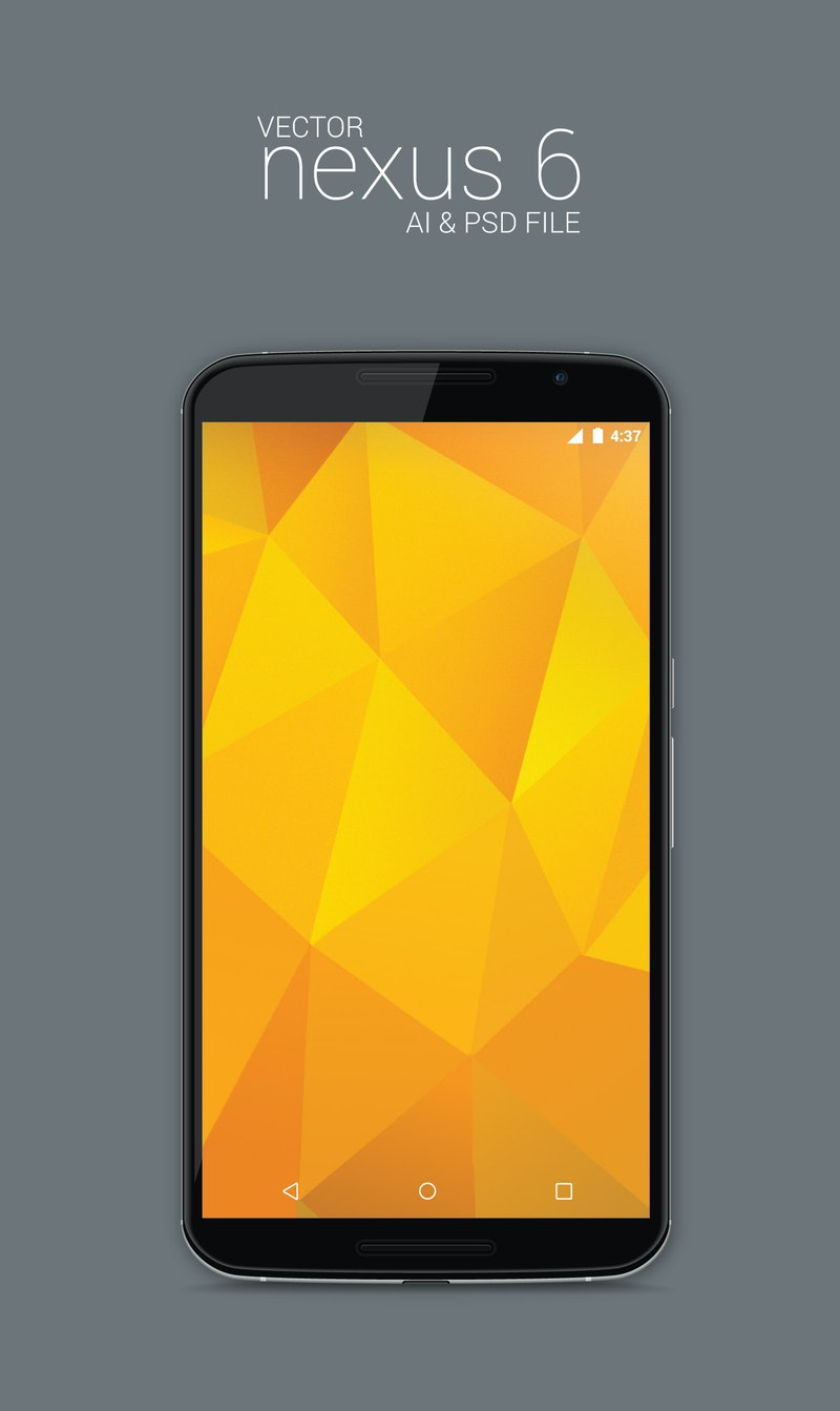 Vector Nexus 6 Model Mockup preview