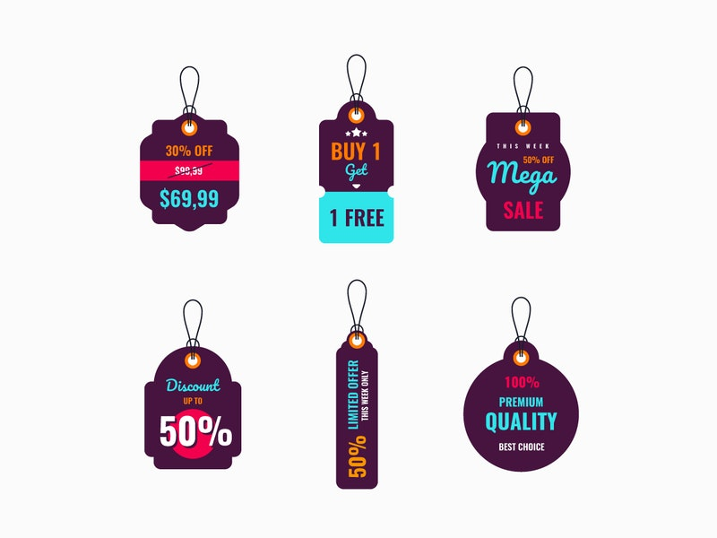 Vector Price Tags Labels preview