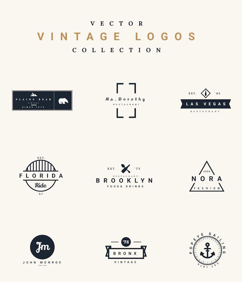 Vector Vintage Logos preview