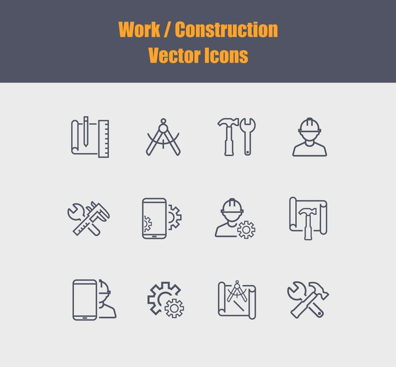 Vector Work Icons preview