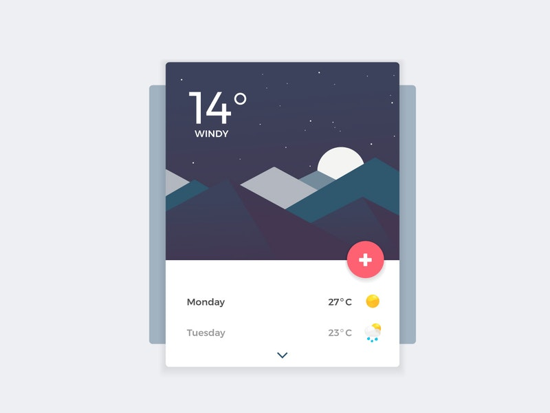 Weather Banner UI preview