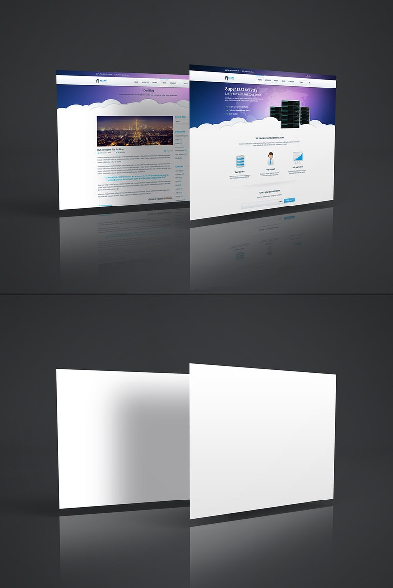 Web Page PSD Mockup preview