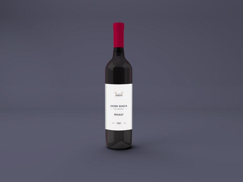 Wine Bottle PSD Mockup preview