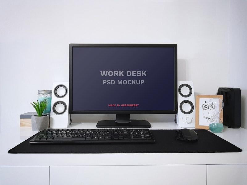 Work Desk PSD Mockup preview