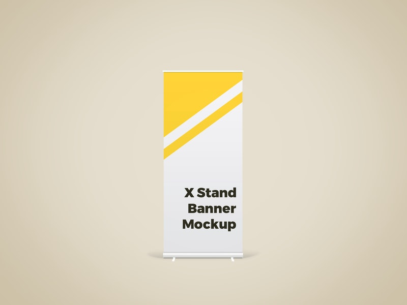 X Stand Banner Mockup preview