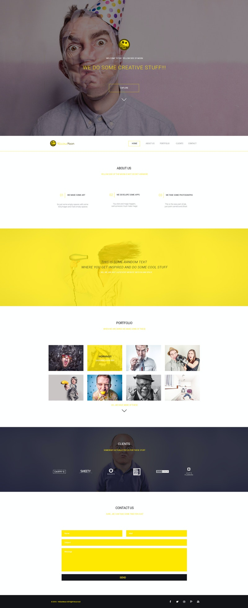 YellowMoon - Free PSD Landing Page preview
