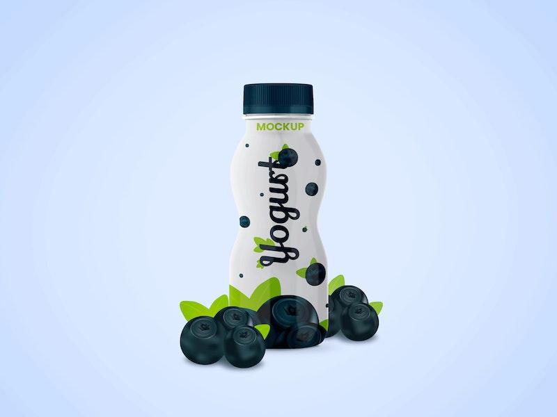 Yogurt Bottle PSD Mockup preview
