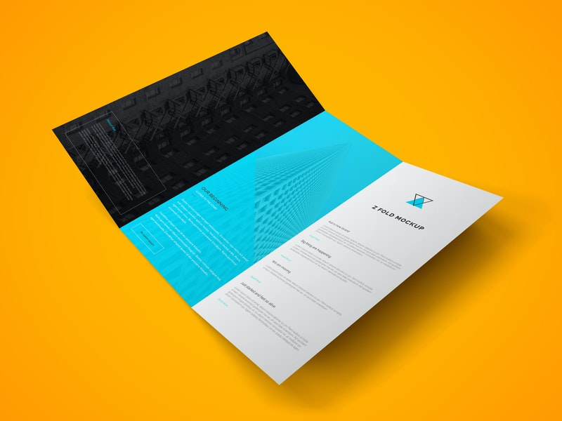 Z Fold Brochure PSD Mockup Vol.2 preview